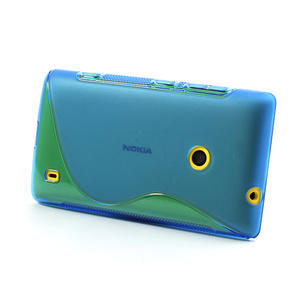 Gélové S-line puzdro na Nokia Lumia 520- modré - 3