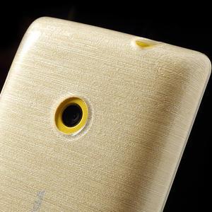 Gélové kartáčové puzdro na Nokia Lumia 520- biele - 3