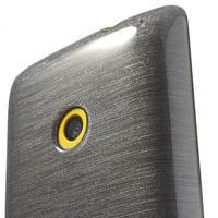 Gélové kartáčové puzdro na Nokia Lumia 520- šedé - 3/5