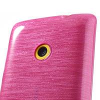 Gélové kartáčové puzdro na Nokia Lumia 520- růžové - 3/5