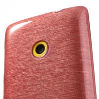 Gélové kartáčové puzdro na Nokia Lumia 520- svetleružové - 3/5