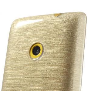 Gélové kartáčové puzdro na Nokia Lumia 520- zlaté - 3