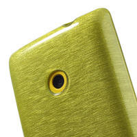 Gélové kartáčové puzdro na Nokia Lumia 520- zelené - 3/5