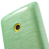 Gélové kartáčové puzdro na Nokia Lumia 520- zelenomodré - 3/5
