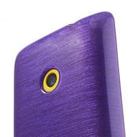 Gélové kartáčové puzdro na Nokia Lumia 520- fialové - 3/5