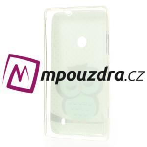 Gélové puzdro na Nokia Lumia 520 - sova - 3