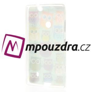 Gélové puzdro na Nokia Lumia 520 - multi sovy 2 - 3