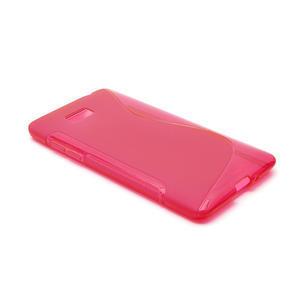 Gélové S-line puzdro pre HTC Desire 600- červené - 3