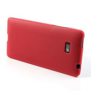 Gélové matné puzdro pre HTC Desire 600- červené - 3