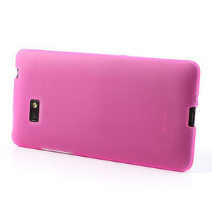 Gélové matné puzdro pre HTC Desire 600- ružové - 3