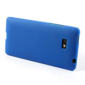 Gélové matné puzdro pre HTC Desire 600- modré - 3