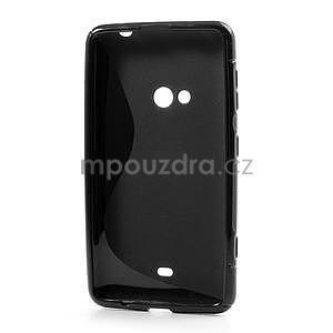 Gélové S-line puzdro pre Nokia Lumia 625- čierné - 3