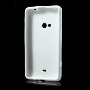 Gélové S-line puzdro pre Nokia Lumia 625- biele - 3