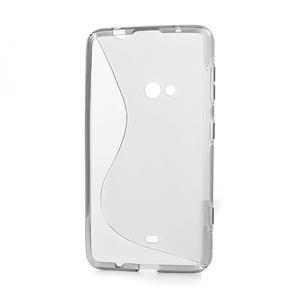 Gélové S-line puzdro pre Nokia Lumia 625- sivé - 3