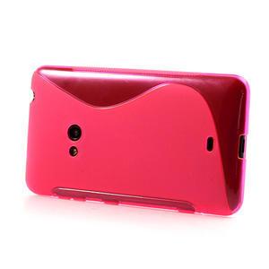 Gélové S-line puzdro pre Nokia Lumia 625- ružové - 3