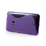 Gélové S-line puzdro pre Nokia Lumia 625- fialové - 3/6
