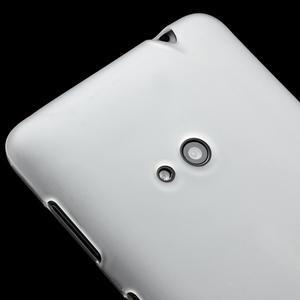 Gélové matné puzdro pre Nokia Lumia 625- biele - 3