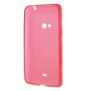 Gélové matné puzdro pre Nokia Lumia 625- červené - 3