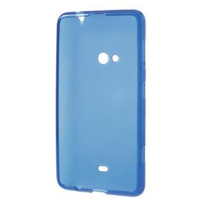 Gélové matné puzdro pre Nokia Lumia 625- modré - 3