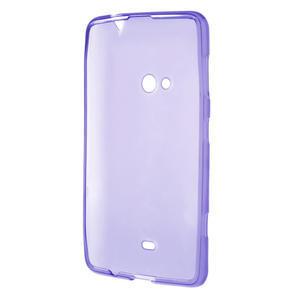 Gélové matné puzdro pre Nokia Lumia 625- fialové - 3