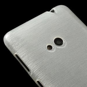 Gélové kartáčové puzdro na Nokia Lumia 625 - biele - 3