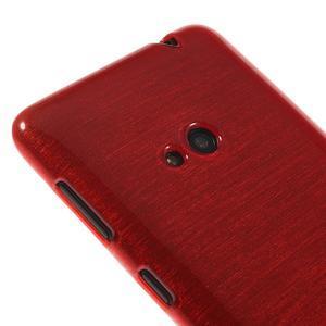 Gélové kartáčové puzdro na Nokia Lumia 625 - červené - 3