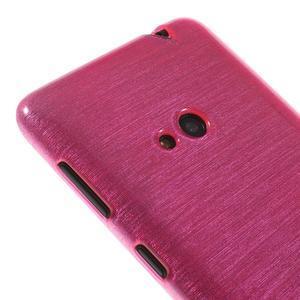 Gélové kartáčové puzdro na Nokia Lumia 625 - ružové - 3