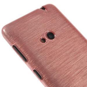 Gélové kartáčové puzdro na Nokia Lumia 625 - svetleružové - 3