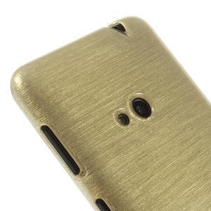 Gélové kartáčové puzdro na Nokia Lumia 625 - zlaté - 3