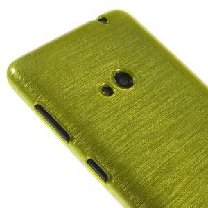 Gélové kartáčové puzdro na Nokia Lumia 625 - zelené - 3