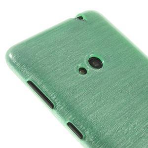 Gélové kartáčové puzdro na Nokia Lumia 625 - cyan - 3