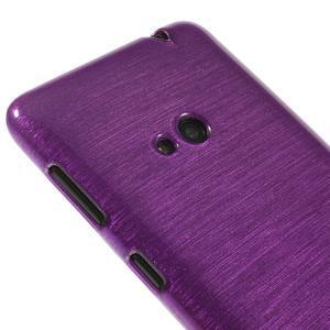 Gélové kartáčové puzdro na Nokia Lumia 625 - fialové - 3