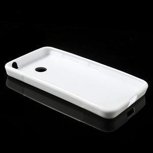 Gélové S-line puzdro na Nokia Lumia 630- biele - 3