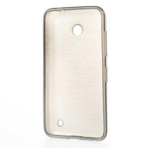 Gélové Kartáčové puzdro na Nokia Lumia 630- šedé - 3