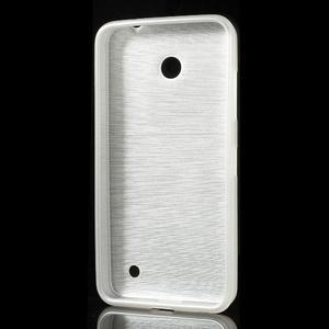 Gélové Kartáčové puzdro na Nokia Lumia 630- biele - 3