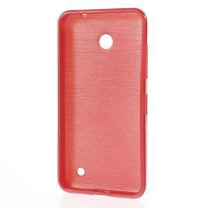 Gélové Kartáčové puzdro na Nokia Lumia 630- červené - 3