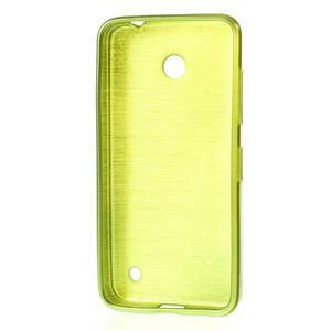 Gélové Kartáčové puzdro na Nokia Lumia 630- zelené - 3