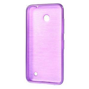 Gélové Kartáčové puzdro na Nokia Lumia 630- fialové - 3
