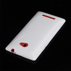 Gélové S-line puzdro pre HTC Windows phone 8X- biele - 3