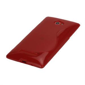 Gélové S-line puzdro pre HTC Windows phone 8X- červené - 3