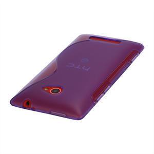 Gélové S-line puzdro pre HTC Windows phone 8X- fialové - 3