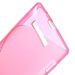 Gélové S-line puzdro pre HTC Windows phone 8X- ružové - 3
