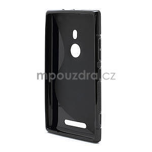 Gélové S-liné puzdro pre Nokia Lumia 925- čierné - 3