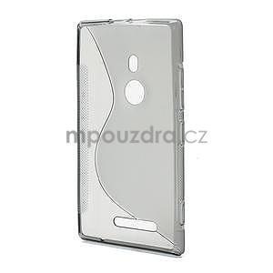 Gélové S-liné puzdro pre Nokia Lumia 925- šedé - 3