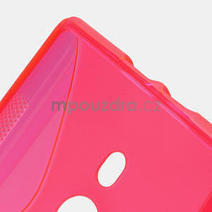 Gélové S-liné puzdro pre Nokia Lumia 925- ružové - 3