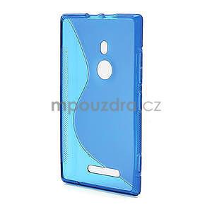 Gélové S-liné puzdro pre Nokia Lumia 925- modré - 3