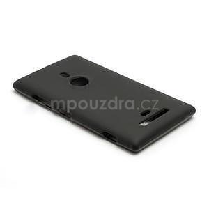 Gélové matné puzdro pre Nokia Lumia 925- čierné - 3