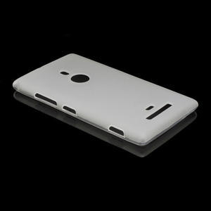 Gélové matné puzdro pre Nokia Lumia 925- biele - 3