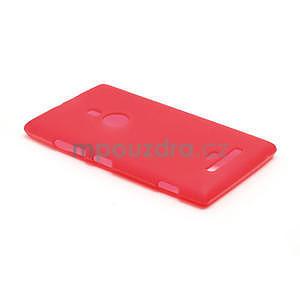 Gélové matné puzdro pre Nokia Lumia 925- červené - 3