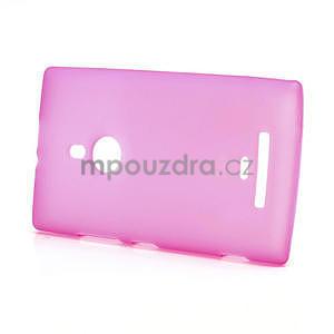 Gélové matné puzdro pre Nokia Lumia 925- ružové - 3